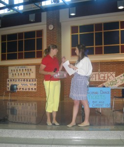 House sponsor Sarah Wolff and speaker of the House Meredith Baranowski engage in a quick side conversation during a recent House meeting. House is teaming up with Tea Buds in Carmel to donate $1 to Riley Children's Hospital for every bubble tea sold from now until Feb. 23. LINDSEY WALKER / PHOTO